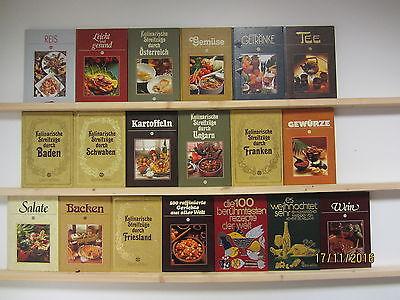 19 Bücher Kochbücher Sigloch Edition nationale und internationale Küche