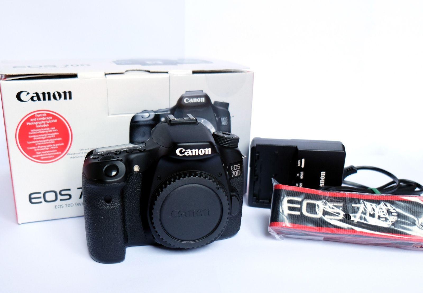 ** TOP-Zustand ** - Canon EOS 70D (Body ohne Objektiv) + Speicherkarte, Tasche