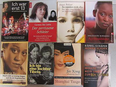 86 Bücher Taschenbücher Schicksale Lebensgeschichten Tragödien Lebensberichte