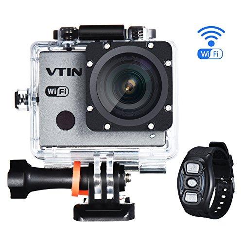 Actioncam WIFI 2,0 Zoll, VTIN wasserdichte 1080P 30fps FHD Sports Cam Action Kamera Camera , mit 2.4 G Handgelenk Fernbedienung + 2 Verbesserten Batterien + Zubehör Kits