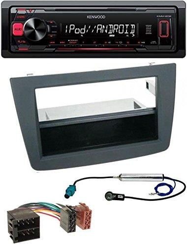 Kenwood KMM-202 MP3 USB AUX Autoradio für Alfa Romeo Mito Typ 955 2008-2014 ISO schwarz