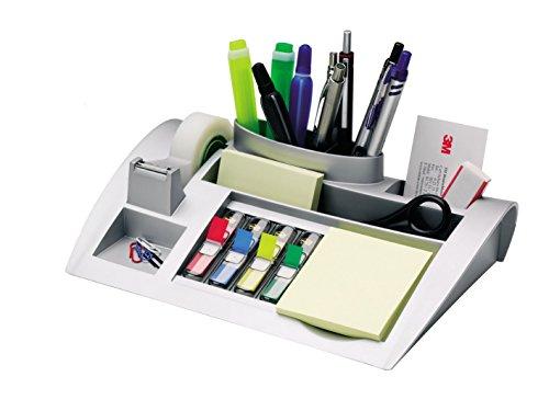 Post-it C50 Tisch-Organizer (inkl. Haftnotizen und Scotch Klebeband) metallic silber