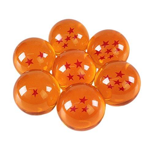 7 Dragonballs Z Kugeln wie aus Glas Action-Figuren mit allen Sternen, Kugeln/Murmeln/Bälle für Cosplay Kostüm Manga Anime Set Son-Goku