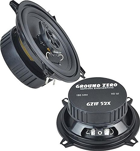 Ground Zero Iridium GZIF 52X Auto Lautsprecher Koax-System 220 Watt für Ford Fiesta 03/89 - 04/02 Einbauort vorne :Türen / hinten : --