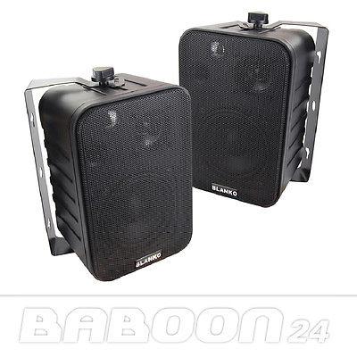 3 Wege Boxen mit Halterung, 120 WATT, Lautsprecher, Decken- und Wandhalterung