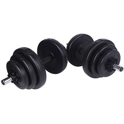 20 kg Kurzhanteln Hanteln Gewichte Hantelscheiben Hantelset Krafttraining