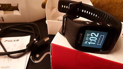 polar M400 GPS sportuhr-Schwarz-mit Brustgurt H7Herzfrequenz-Sensor-fast wie neu