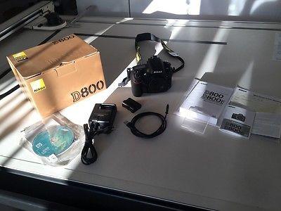 Nikon D800 36,3MP SLR Digitalkamera - nur 2057 Auslösungen - nur Gehäuse-wie neu