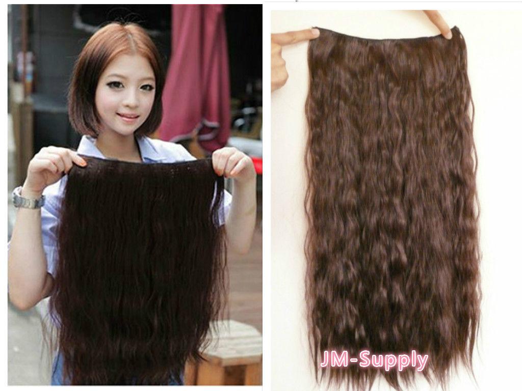 Clips in Extension Haarverlängerung ca,60cm Lang fein gewellt Haarverdichtung