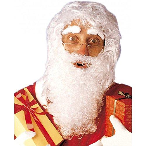 Weihnachtsmanns-Set mit Perücke, Bart und Augenbrauen.