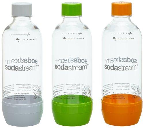 SodaStream 1041340490 Pet-Flasche 2 + 1, orange/grün/weiß