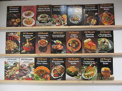 21 Bücher Kochbücher Serie 100 Rezepte nationale und internationale Küche