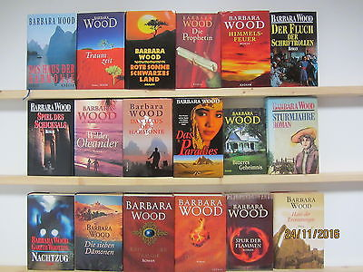 Barbara Wood 18 Bücher Romane historische Romane romantische Romane Hardcover