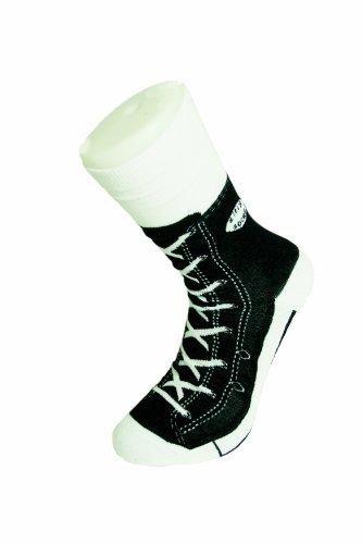 Sneaker Socken schwarz - Silly Socks im Sneakers Turnschuhe Stil