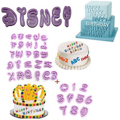 36Pcs Alphabet Buchstaben Zahlen Disney Ausstechform Fondant Marzipan Ausstecher
