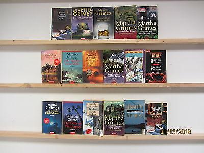 Martha Grimes 17 Bücher Taschenbücher Romane Krimi Kriminalromane Thriller