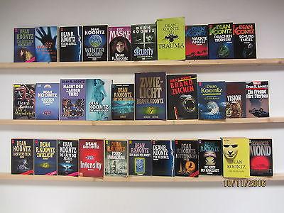 Dean Koontz 31 Bücher Romane Gruselromane Horrorromane Grusel Horror