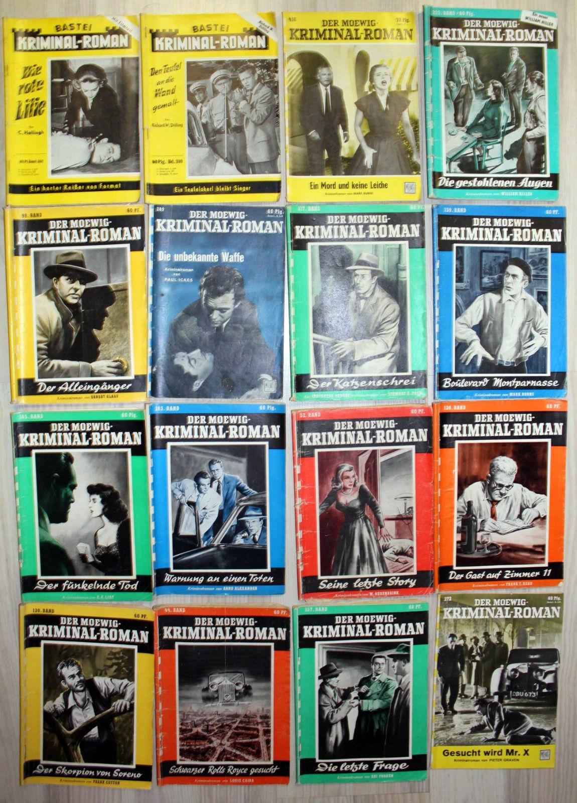 Kriminalromane,  Konvolut von 90 Heften aus verschiedenen Serien