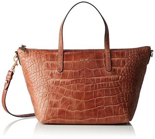 JOOP! Damen Croco Soft Helena Handbag Mhz Henkeltasche, Braun (Brown), 14x23x40 cm