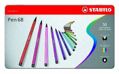 STABILO Pen 68 50er Metalletui - Filzstift