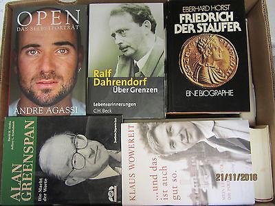 33 Bücher Biografie Biographie Memoiren Autobiografie Lebenserinnerungen Paket 1