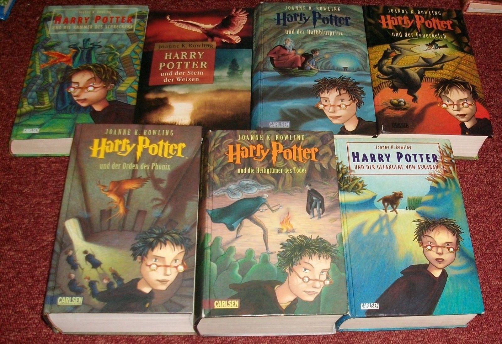7x Harry Potter - Bände 1 bis 7  - von Joanne K. Rowling