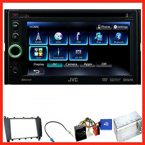 Komplett Set Mercedes C-Klasse W203 CLC CL203 S203 JVC KW-AV61BT USB Bluetooth