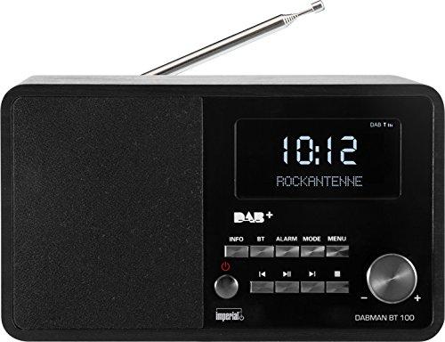 Imperial 22-200-00 DABMAN BT 100 Digitalradio (Holzgehäuse, LCD-Display, DAB+/UKW, RDS, Bluetooth, App Steuerung) schwarz