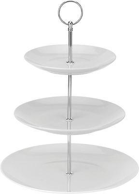 Porzellan Etagere mit 3 Etagen 27cm - Etagenständer Etagenplatten Servierplatte