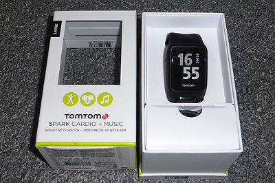 TomTom Spark Cardio + Music Smartwatch Fitness Watch (Black - Large)