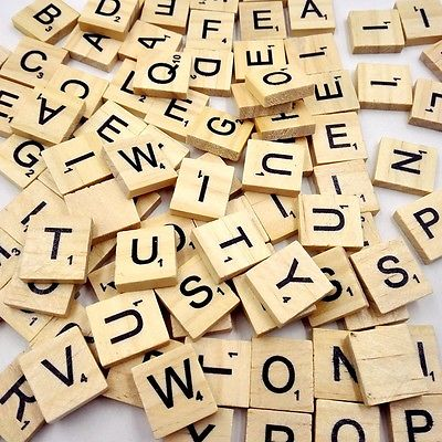 100 Holzern Scrabble Buchstaben Basteln Alphabet Scrabbles Brettspiel