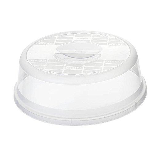 Rotho 1749800096 Mikrowellenabdeckhaube Basic - aus Kunststoff (PP) - Durchmesser 28,5 cm - transparent