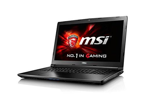 MSI GL72-6QFi78H11 43,9 cm (17,3 Zoll) Notebook (Intel Core i7 6700HQ, 8GB RAM, 1TB HDD, NVIDIA GF GTX 960M, Win 10 Home) schwarz/grau