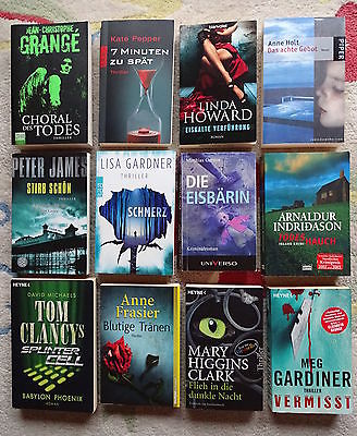 Bücherpaket 12 top Krimis Thriller: Gardiner Gardner Indridason James Pepper