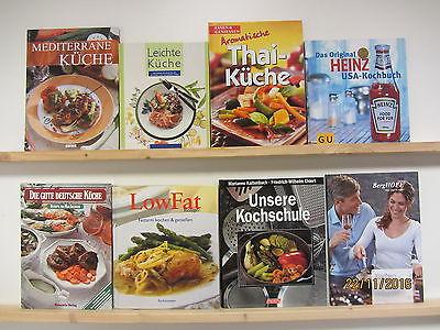 26 Bücher Kochbücher nationale und internationale Küche Paket 1 großformatig