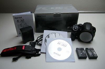 Pentax K K-30 16.3MP DSLR Digitalkamera - Schwarz (Nur Gehäuse)