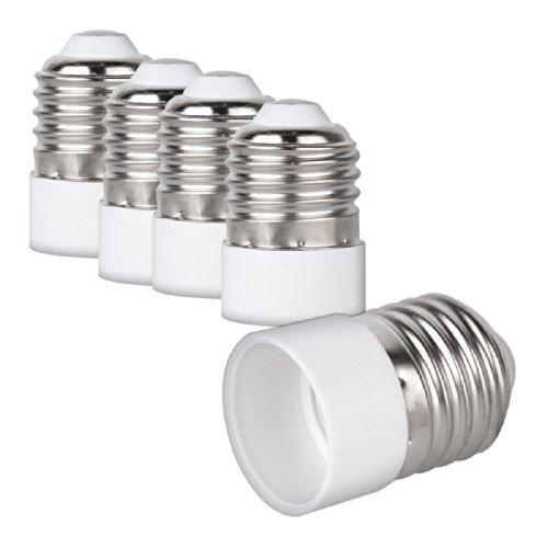 kwmobile 4x Praktischer Lampensockel Adapter - E27 Fassung auf E14 Lampensockel - Qualität