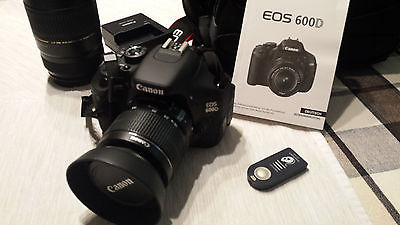Canon EOS 600D / Rebel T3i 18.0 MP SLR-Digitalkamera - Schwarz (Kit m/ EF-S...