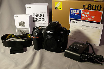 Nikon D800 DSLR Kamera, neuwertiger Zustand 36.3 MP