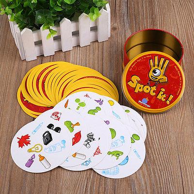 Für Spot it Dobble Finden Sie es Brett Lustige Kartenspiel für Kinder Family YH