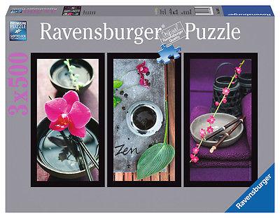 Ravensburger 16289 - Zen Augenblicke, 3 x 500 Teile Puzzle