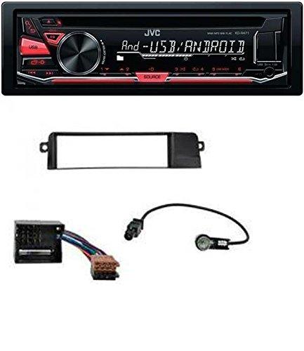 JVC KD-R471 CD MP3 USB AUX Autoradio für BMW 3er E46 (Profiversion, Quadlock)