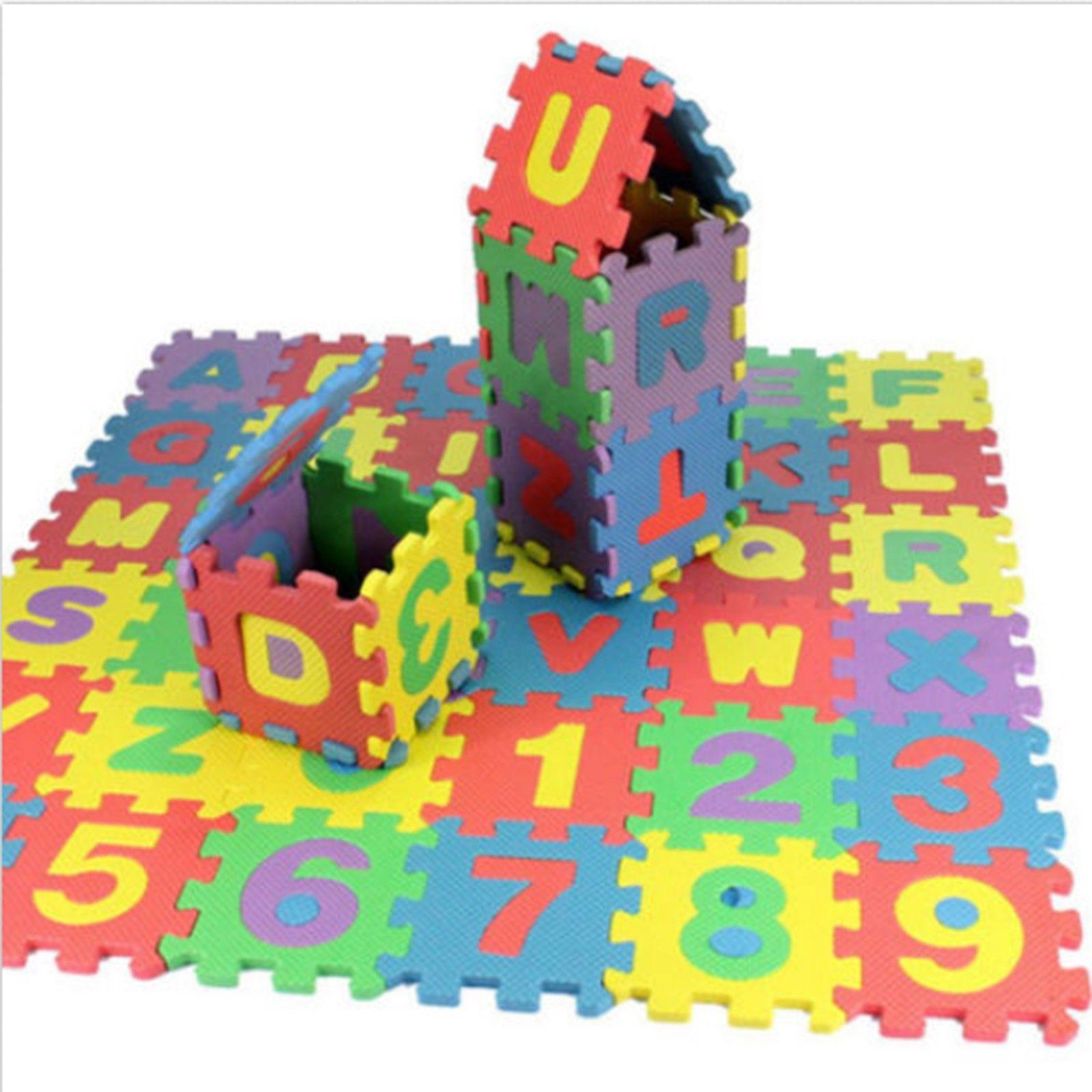 Alphabet Buchstaben Numerische Kindermatte Puzzlematte  Spielzeug Früh Bildungs