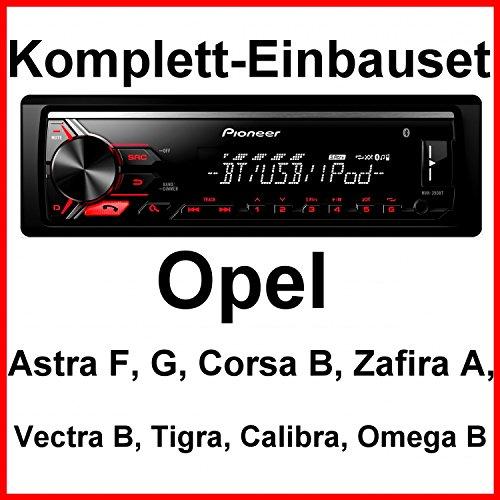Komplett-Set Opel Astra F G Corsa B Zafira A MVH-390BT Autoradio Bluetooth USB