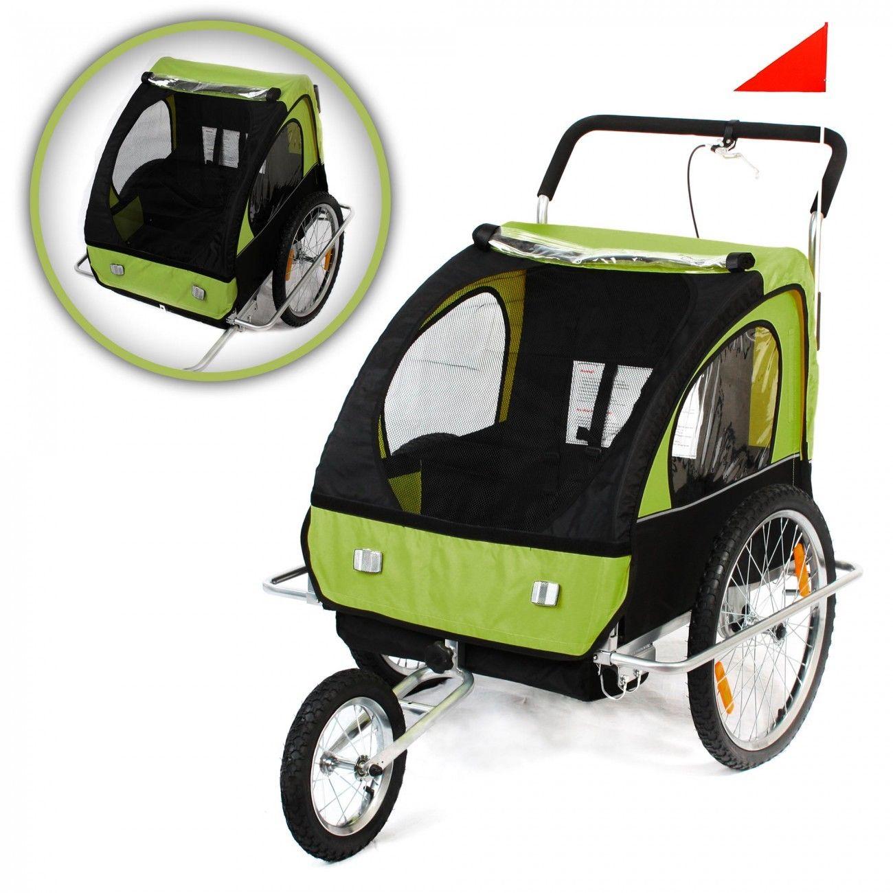 Jogger Fahrradanhänger 2in1 Kinderanhänger Anhänger Transport Vollgefedert Neu