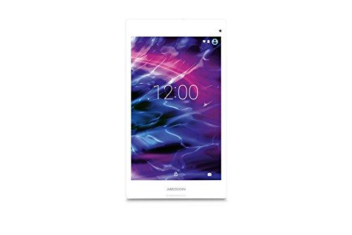 MEDION LIFETAB P8313 8 Zoll (20,32 cm) Tablet-PC (Intel Atom Z3735F, 1,33GHz, 2GB RAM Arbeitsspeicher, 32GB interner Speicher, Speichererweiterung bis zu 128 GB, Kamera 5MP, 2MP Frontkamera, Android 5.0, Touchscreen, Metallgehäuse) white