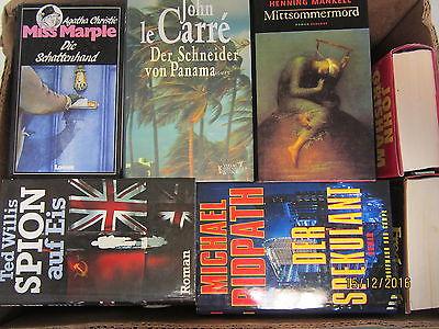 35  Bücher Romane Krimi Kriminalromane Spionageromane Detektivromane Paket 1