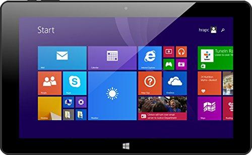 Xoro PAD 10W6 26,9 cm (10,6 Zoll) Convertible Tablet-PC (Intel Atom Z3735F, 2GB RAM, 32GB Flash, Intel HD Graphics, WLAN, Win 10) schwarz inkl. Tasche/QWERTZ Tastatur