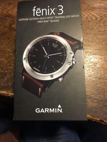 Garmin Fenix 3 Saphir Sapphire GPS Uhr Sportuhr Multi-Sport HRM RUN Bundle