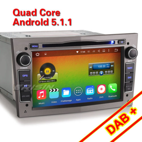 Android 5.1.1 autoradio navi mit cd Opel Corsa C/D Vectra Zafira Astra H 4681PGD